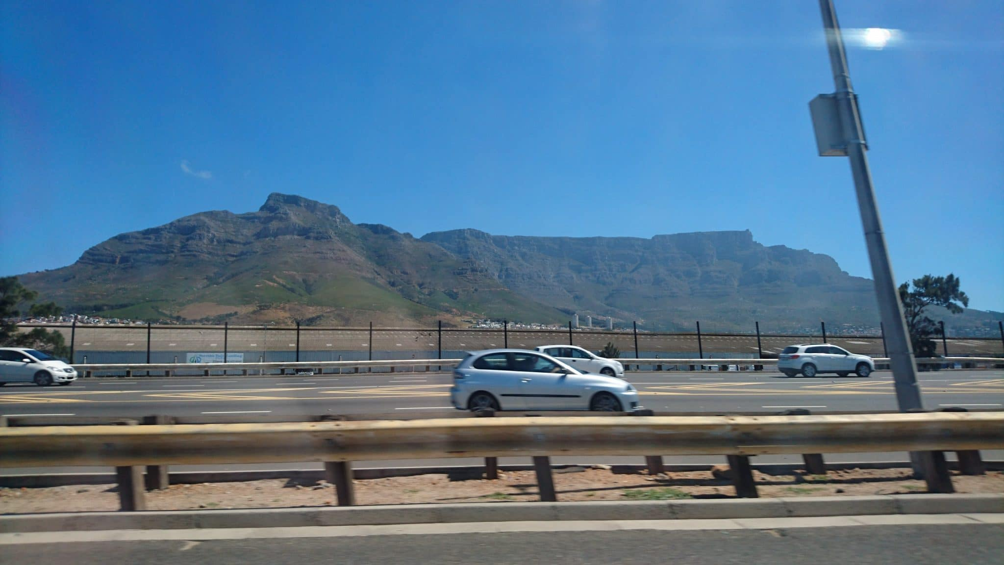 Karlien Cape Town's iconic Table Mountain from the N1